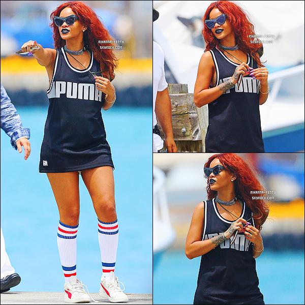 _ 19/04/2015 : Rihanna F. a été aperçue prenant un bateau pour se rendre au de L'Ile de Hawai pour y aller pêcher.