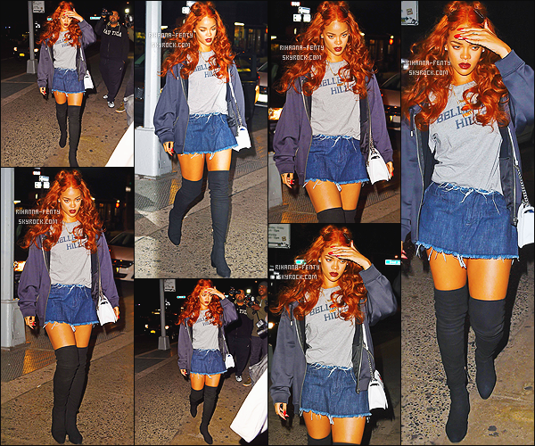 '  24/05/15 : Rih se rendait dans un studio d'enregistrement à New York. J'adore sa tenue, pour moi c'est un top !  '