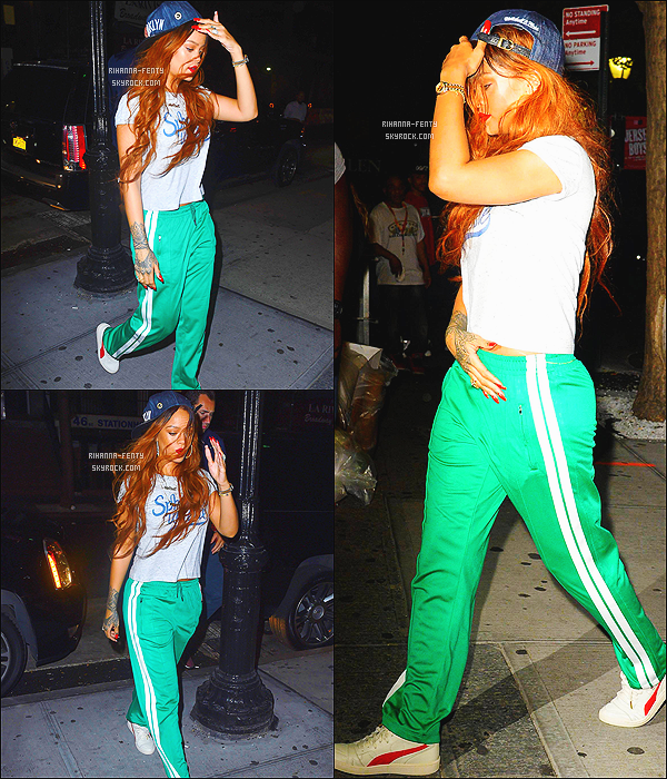 _ 07/07/15 - Rihanna a été aperçue alors qu'elle se rendait dans un studio d'enregistrement à New York. - Top !