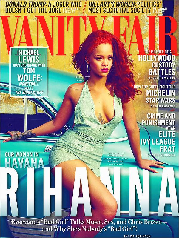 .  COUVERTURE :  ☈ihanna en couverture du «  Magazine Vanity Fair » du mois de Novembre.  .