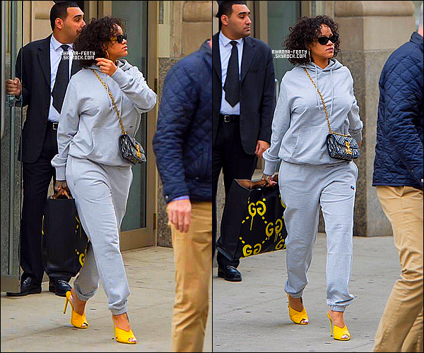 _ 26/10/2017  - Rihanna Fenty a été photographiée en train de quitter son appartement à New York . Top or Flop ?
