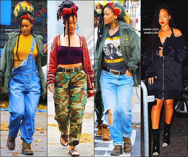 _  Découvrez tous les candids de Rihanna sur le tournage de  Ocean's 8