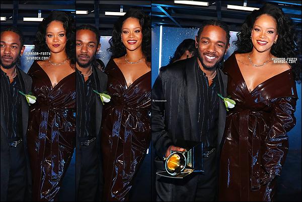 . 28/01/2018 - RIHANNA ÉTAIT DANS LE PUBLIC LORS DES GRAMMY AWARDS . Malheuresement Rihanna n'était pas présente sur le tapis rouge des GA18. + Rihanna et Dj Khaled interprétant « Wild Thoughts » Vidéo .