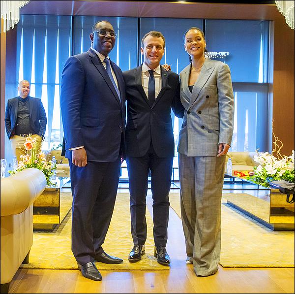 _ 02/02/18  - Rihanna assiste à l'immense conférence du Parternariat mondial pour l'éducation à Dakar au Senegal .