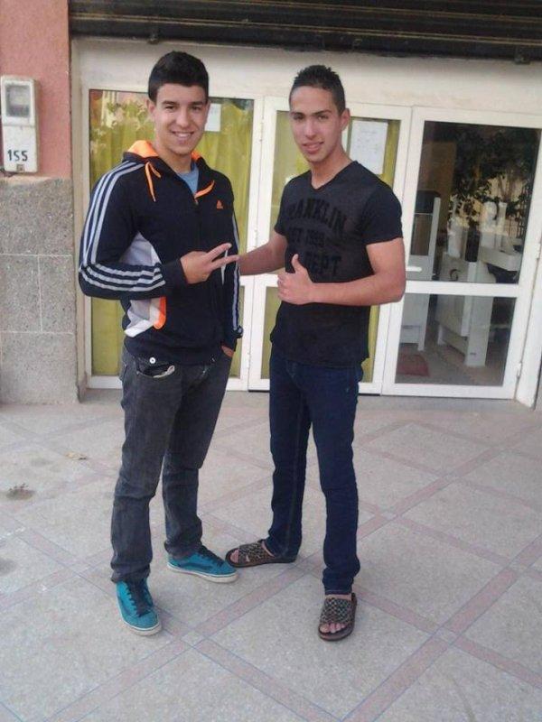Moi et mon nouveau pote Ismail