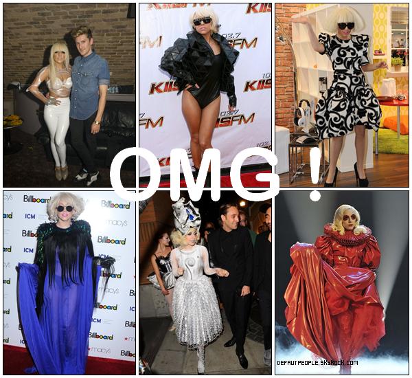 HEUREUSEMENT QUE LE RIDICULE NE TUE PAS ! Petit FLASH-BACK sur les tenues de la star la plus bizarre du moment, j'ai nommé... Lady Gaga !
