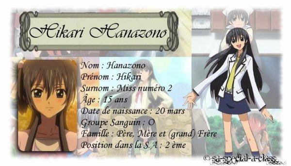 S.A special A class personnages de la S.A : Hikari