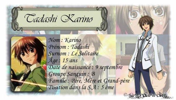 S.A special A class personnages de la S.A : Tadashi