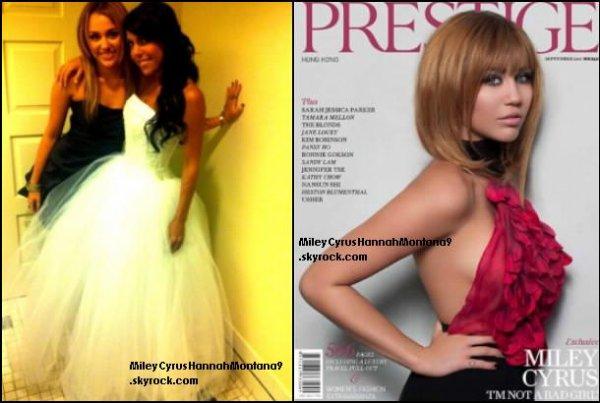 2.09.11 : Miley au mariage de Jen Talerico & le magazine Prestige de septembre 2011