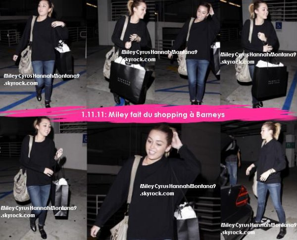 4.11.11: Shopping time ! / 1.11.11 : Miley fait du shopping à Barney's / 31.10.11 : Halloween Party !
