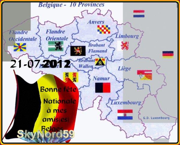 """Bonne fête National aux amis(e) """" Belges"""""""