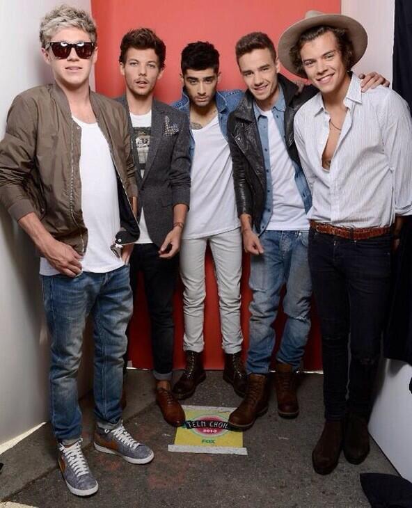 Les boys hier aux Teen Choice Awards!