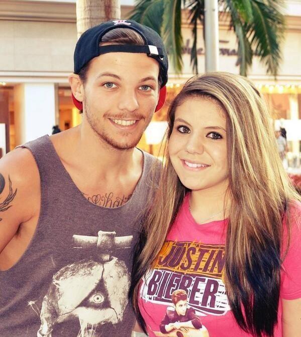Louis et une fan à LA hier!