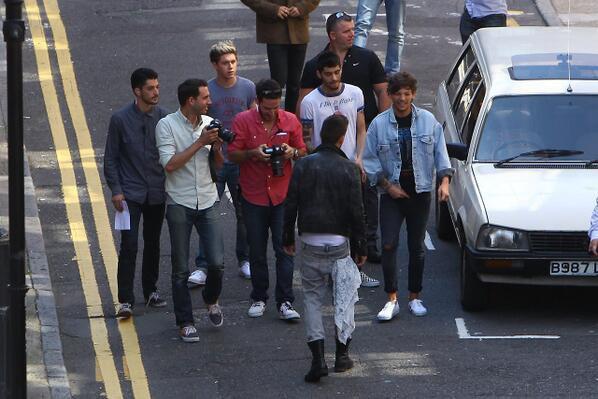Les boys à Londres hier!