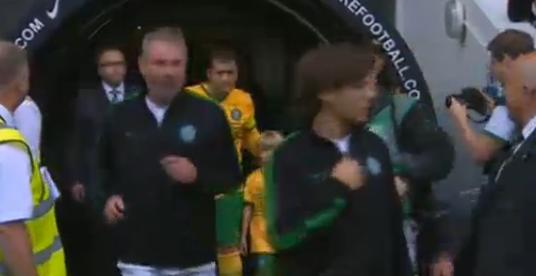 Louis arrivant sur le terrain il y a quelques minutes!