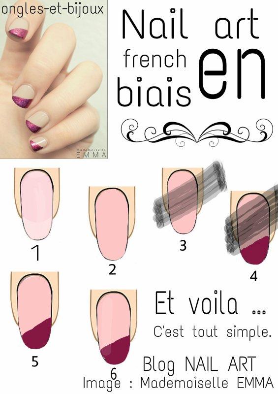 Tuto nail art french en biais...