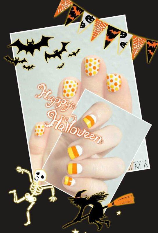 Le nail art halloween par Mademoiselle Emma