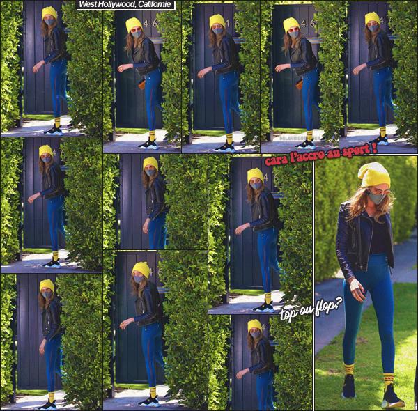 09/04/21 - Cara Delevingne a été vue arrivant à une séance de sport privé dans HOLLYWOOD !