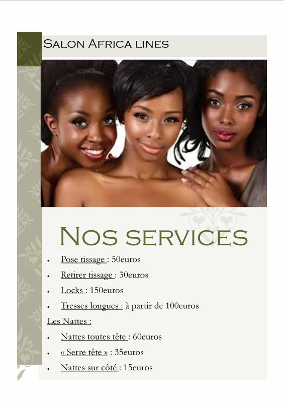 Africa lines, nos services