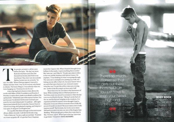 Scan Complet du magazine Teen Vogue avec Un article spécial sur Justin