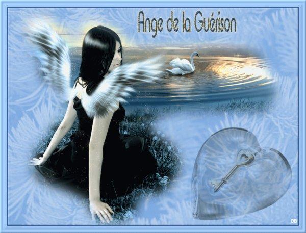 """pour tous ceux qui sont malades , cet ange vous est destiné .... et tout  """"PARTICULIEREMENT POUR VIC """" bisous"""
