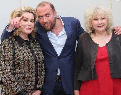 """Catherine Deneuve, François Damiens et Yolande Moreau - """"Le Tout Nouveau Testament"""" le 17 mai 2015 - CANNES 2015"""