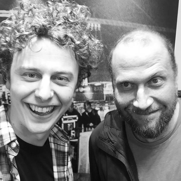François Damiens et Norman Thavaud à l'ocasion du spectacle de Norman à Bruxelles