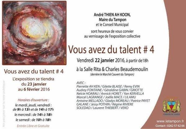Petit rappel encore 1 Jour pour le vernissage à 18h à la Galerie Beaudemoulin au tampon 97430 l'ile de reunion ( ce si tu au marché couver , Gare routière )