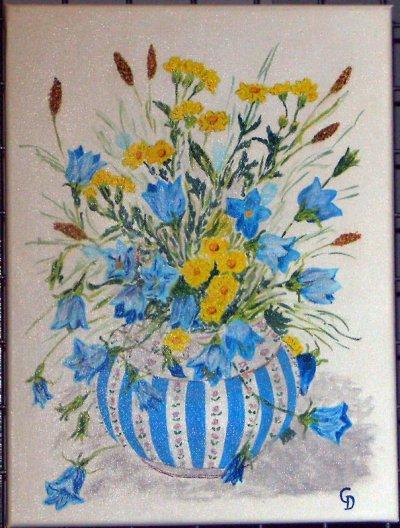 Vase bleu - 118