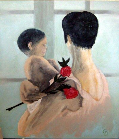 Maman a la rose - 170