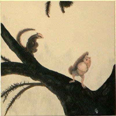 Femme ecureuil - 100