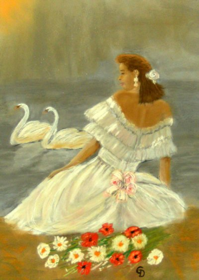 Jeune fille aux cygnes - 95