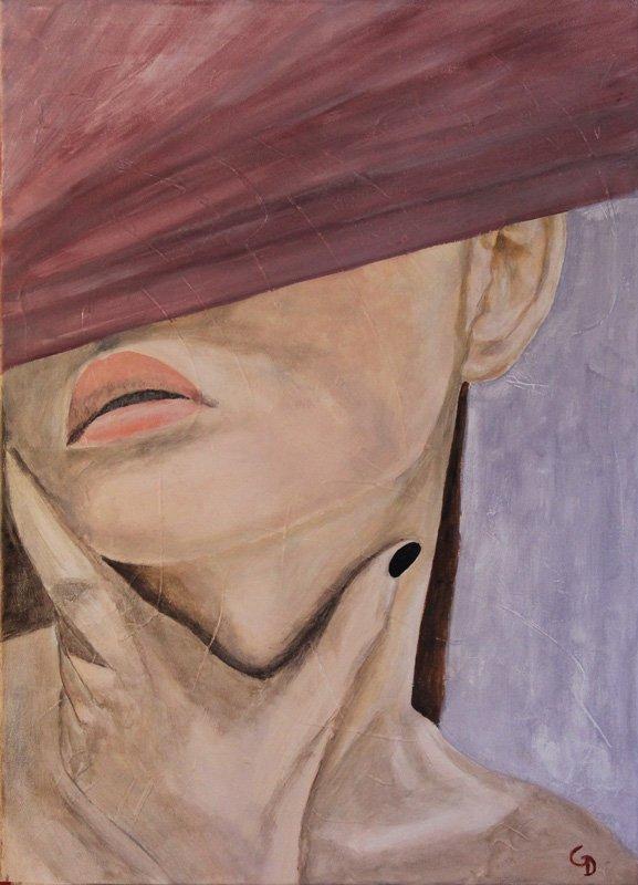 256 - Femme au chapeau