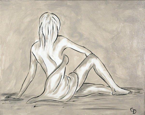 276 - Femme de dos