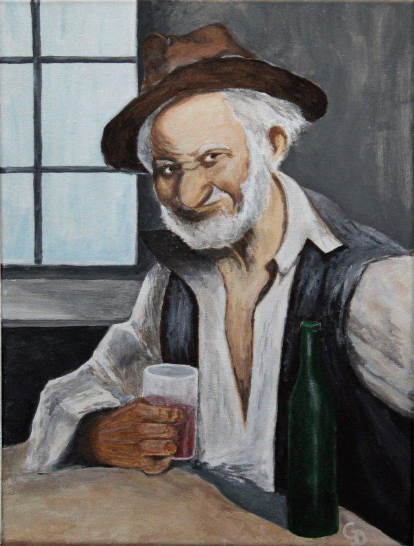 287 - Le vieillard au verre