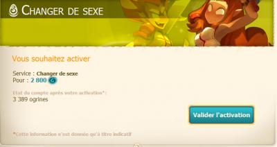 changement de sexe