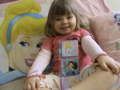 Lot de 3 petits carnet princesse