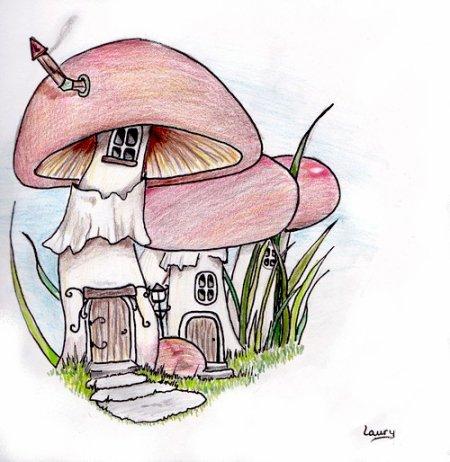 Maisons champignon 2 - Blog de Dessins