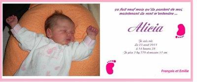 naissance de notre fille
