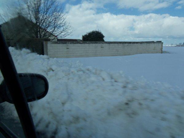 neige dans le calvados
