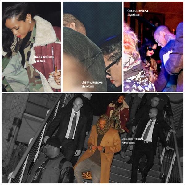 """Le 22 Novembre ; Rihanna et Chris Brown se rendent au club """"Adagio """" à Berlin."""