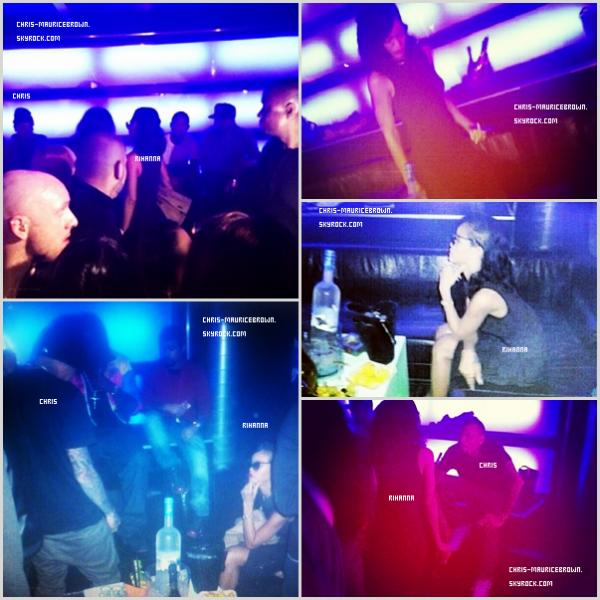 Le 30 Novembre ~ Rihanna et Chris Brown se rend à l'After-party du concert de celui-ci à Bâle, Suisse.