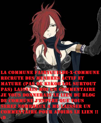 LA COMMUNE FAIRYGUILDE-X-COMMUNE RECRUTE !!!!