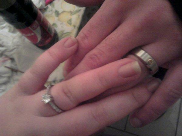 moi ma mere ma soeur mon mec ma niece mon neveu nos bague de fiançailles