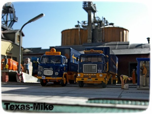 """Scania LB 76 Koffer-Sattelzug """"ASG"""" Brekina 85151"""