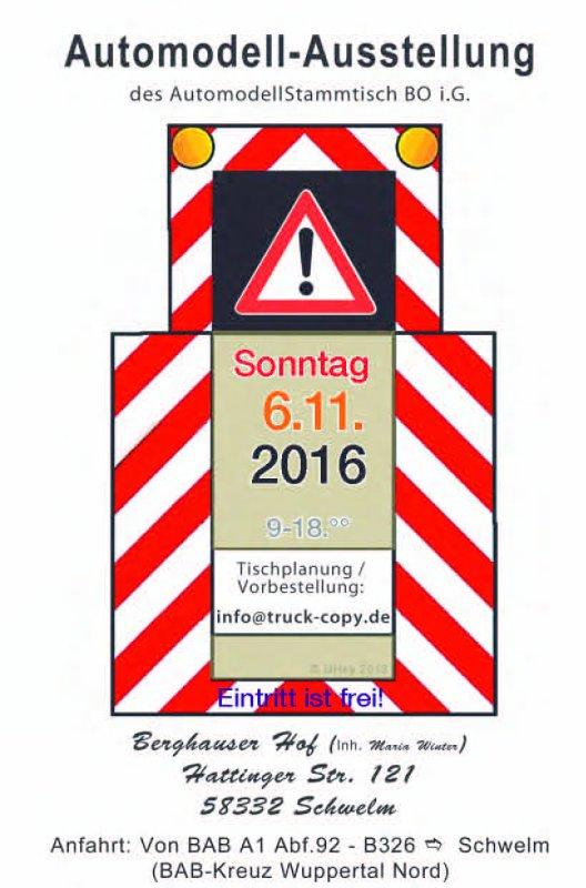 06.11.2016 Ausstellung des Automodell-Stammtisch Bochum in Schwelm