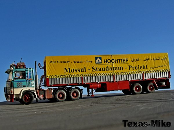 Mossul Staudamm Projekt  Hochtief  RENAULT R 360 Hasso Gelsenkirchen Transport