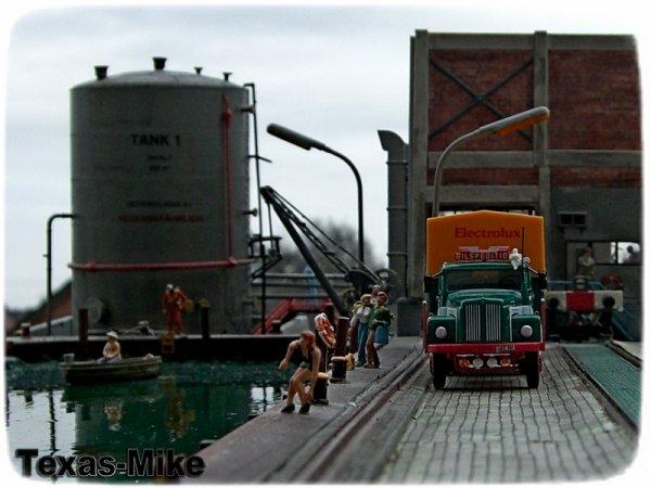 Der Stadthafen Recklinghausen  Scania 110 L Epoche