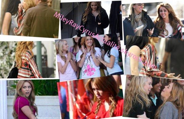"""Miley Cyrus sur le tournage de son nouveau film, """"Undercove"""" à la Nouvelle Orléans, Louisiane."""