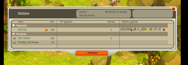 surprise un sadi lvl 200 asser facile :D